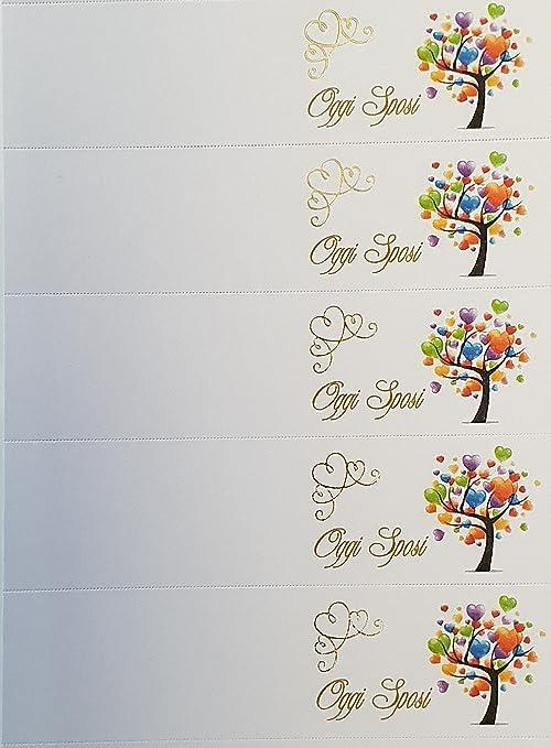 Bigliettini Matrimonio Bomboniere.Rc2 Corporation 100 Bigliettini Per Matrimonio Oggi Sposi Con