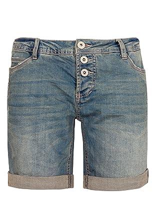 Sublevel Damen Bermuda Mit Aufschlag 5 Pocket Jeans Shorts