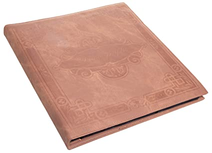 Brown Faux Leather Family Photo Album With Embossed Tree Holds 500