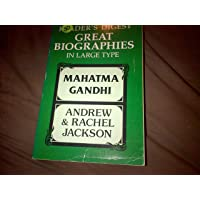 GREAT BIOGRAPHIES IN LARGE TYPE: MAHATMA GANDHI (by Sheean) & ANDREW AND RACHEL JACKSON (by Stone)