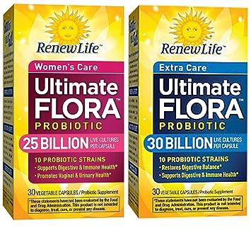 Amazon.com: Renew Life – Ultimate Flora 30 mil millones 25 ...