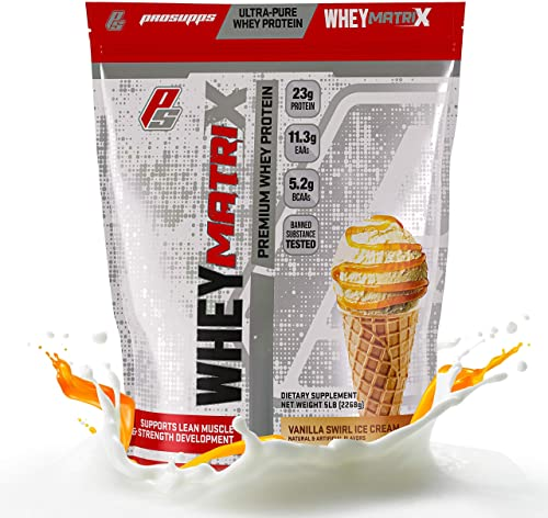 ProSupps Whey Matrix Ultra-Pure Premium Whey Protein, 23g Protein, 5 pounds Vanilla Swirl Ice Cream