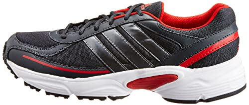 adidas men's dario black and red running shoes