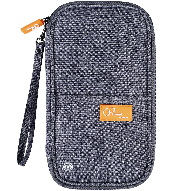 VanFn RFID Travel Passport Wallet, Family Passport Holder, Trip Document Organizer P.Travel Series (Grey)