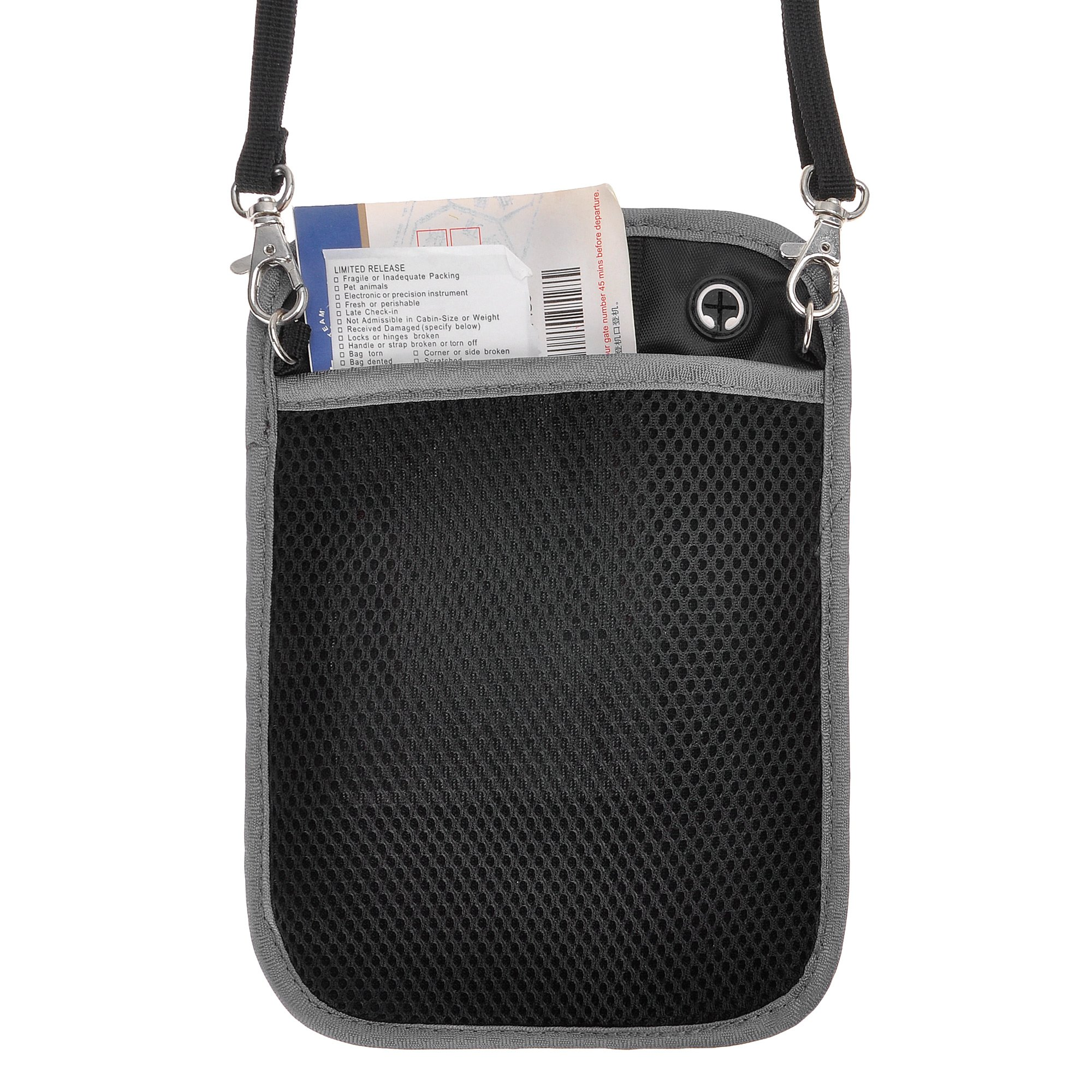 RFID Blocking 2-in-1 Travel Neck Stash and Belt Wallet Security Hidden Passport Holder Pouch by ZLYC (Image #10)