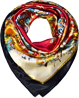 TONY & CANDICE Women's Square Scarf 100% Polyester Silk Feeling, 33*33 Inch