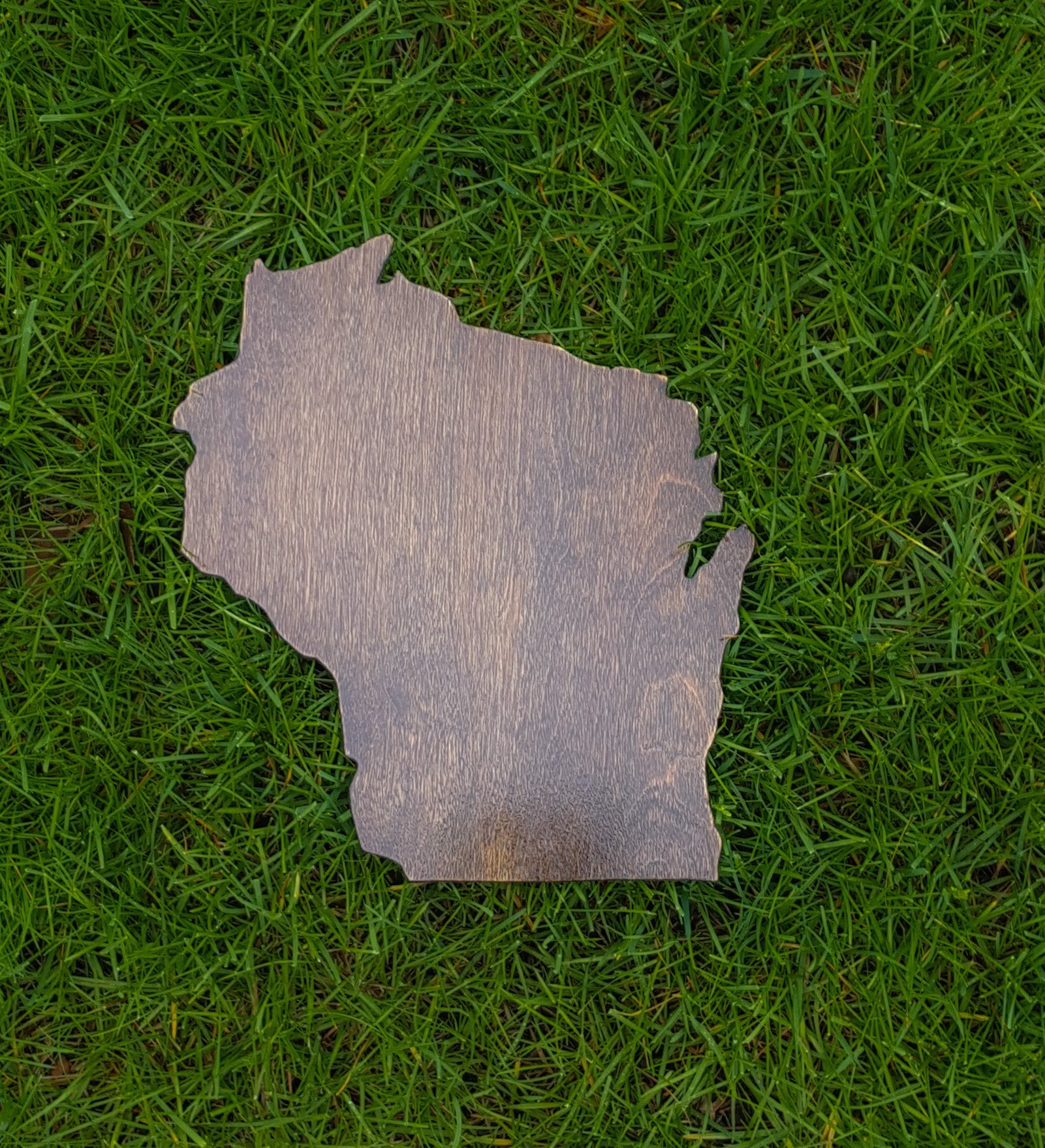 Rustic Wisconsin State Wooden Gallery Wall Art Cutout Office College Dorm Home Bedroom Decor by Natural Accents HD (Image #1)