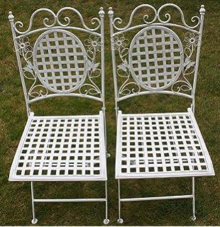Maribelle - Gartenmöbel-Set - 2 runde Stühle - Florales Design ...