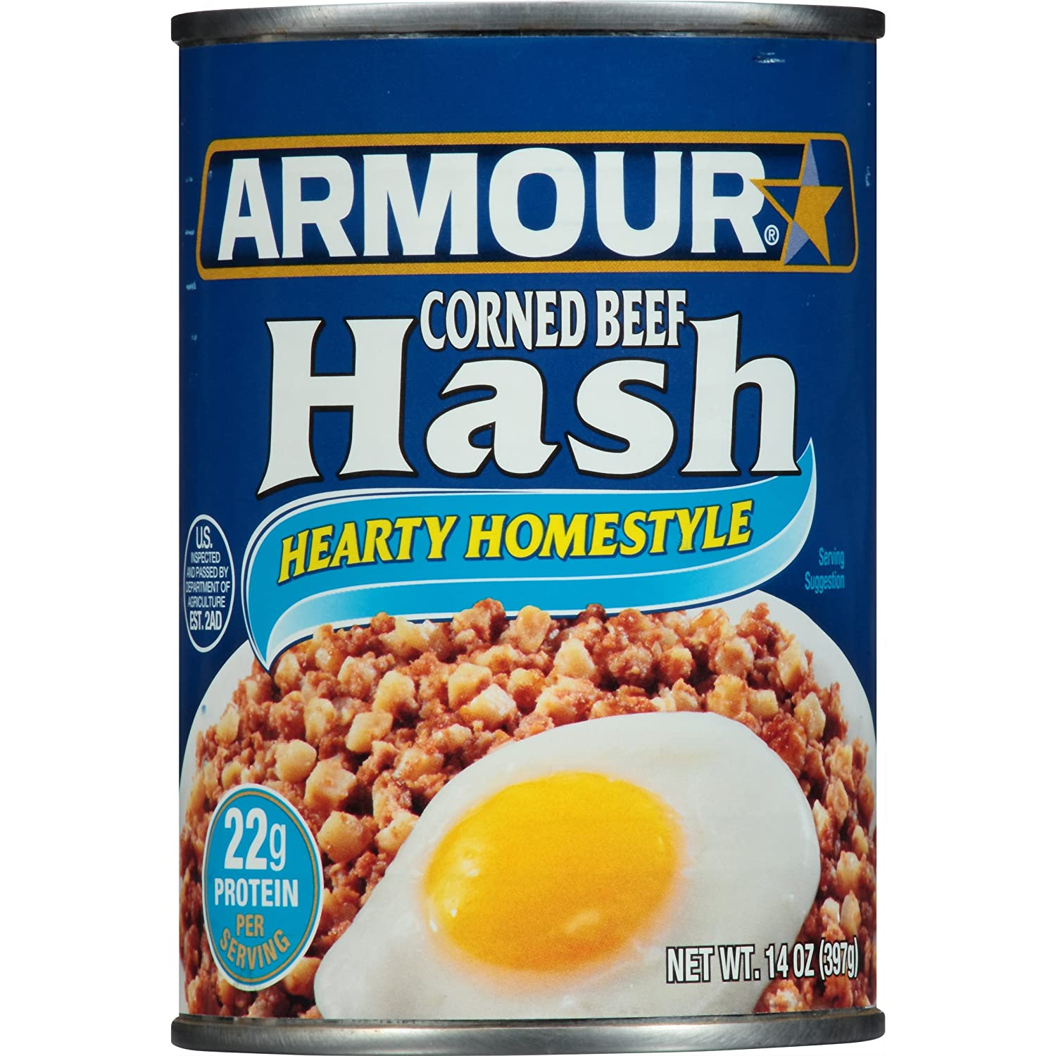 Armour Star Corned Beef Hash 14 Oz Pack Of 12 Amazon Com Grocery Gourmet Food