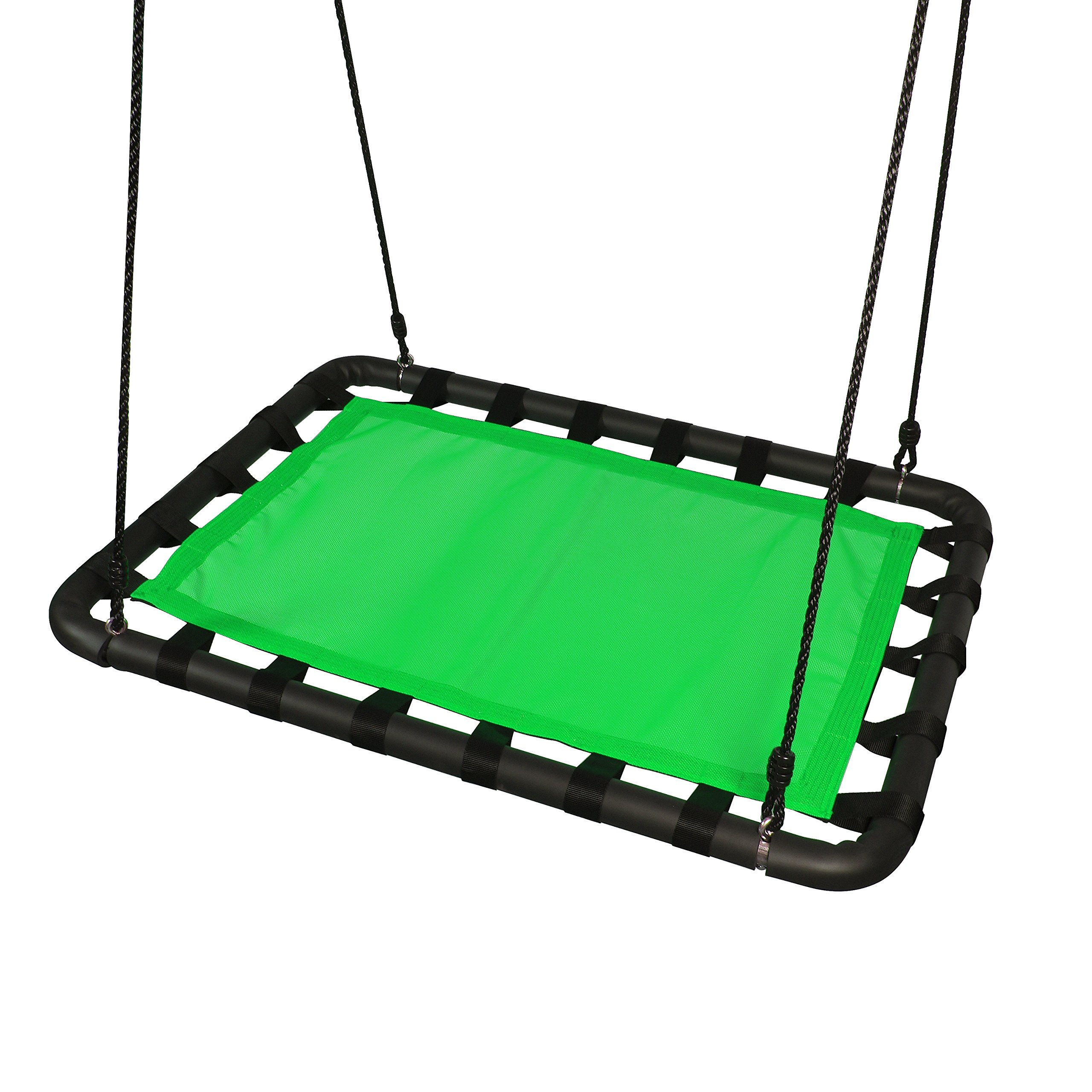 Platform Swing Set Accessories Replacement - 40in L x 30in W, Outdoor Tree Swing Heavy Duty Materials, Room for Multiple Toddler, Kids, Children Swing Playhouse, Playground By ROBINHOOD (green) by Robin Hood