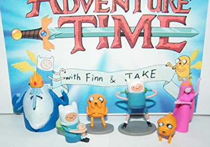 Amazon Com Adventure Time Cartoon Network Mini Figure Toy Set Playset With Finn Jake Ice King And More Toys Games