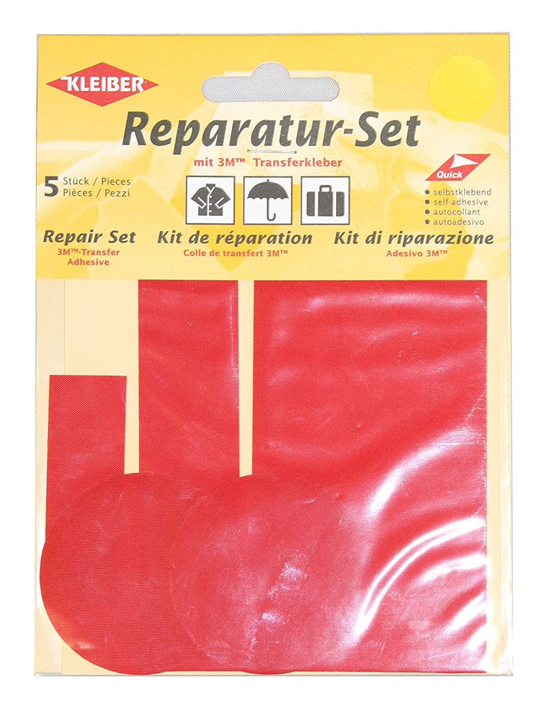 Kleiber 5-Piece Self Adhesive Nylon Clothing Repair Patch Set, Black 430-09