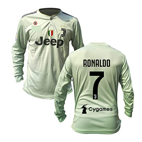 839465ef4 Ronaldo  7 Print Juventus Away Jersey Juventus Full Sleeves Master Quality  Away Football