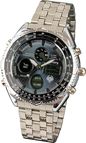 Infantería para hombre táctico militar analógico digital deporte cuarzo reloj de pulsera con banda de acero inoxidable: Amazon.es: Relojes