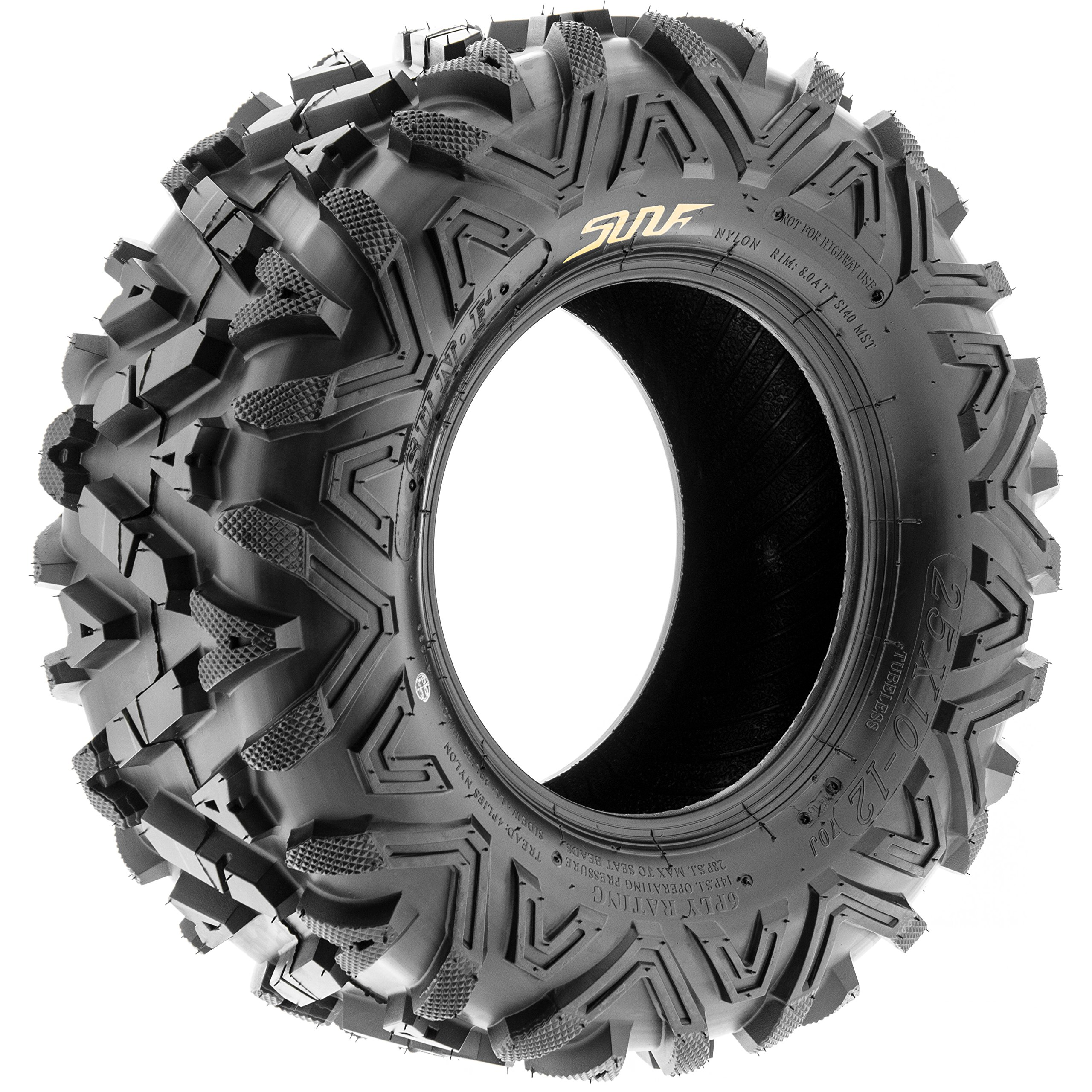 Pair of 2 SunF A033 Power.I AT 25x10-11 ATV UTV Off-Road Tires, All-Terrain, 6 PR, Tubeless by SUNF (Image #9)