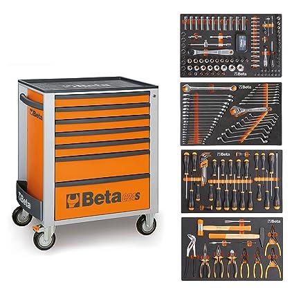 BETA Easy Werkzeugwagen con 7 cajones con 210 teiligem ...