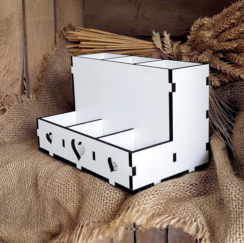 6 F/ächer Stiftehalter Organizer Box Ablage Aufbewahrung f/ür Schreibtisch /& B/üro Personalisierte Stiftebox /« Fotograf /» mit individueller Wunschgravur und Motiv Kamera Photograph