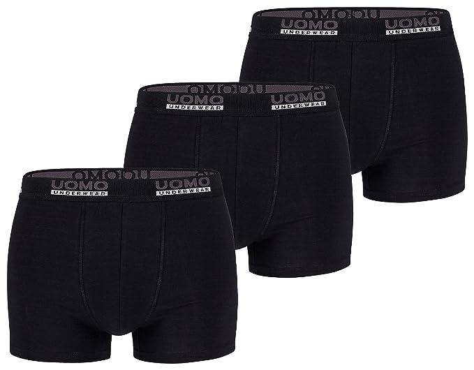 Mens Fashion Lounge® - Bóxers - para hombre multicolor schwarz/3er Pack