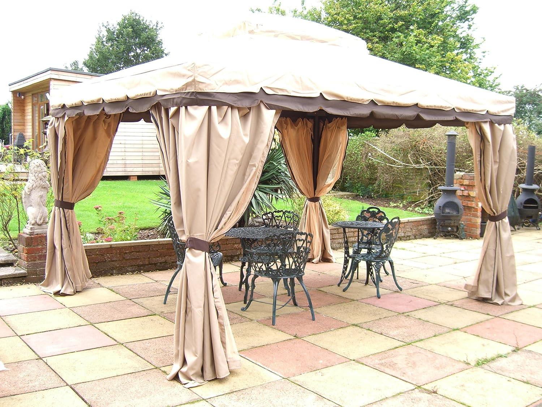 Castmaster Granborough – Cenador de jardín 3, 6 MX 3 m con cortinas y mosquiteras laterales: Amazon.es: Jardín