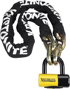 Kryptonite New York FAHGETTABOUDIT 1415 14mm Chain & New York Lock 15mm Disc Lock