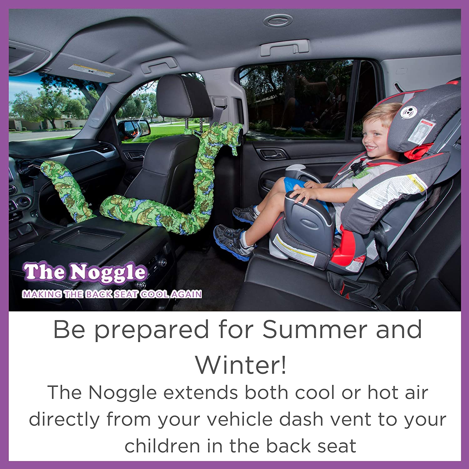 Noggle - Extend Hot and Cold Air from Your Dash AC Vent to Kids in The Back  Seat - Summer and Winter