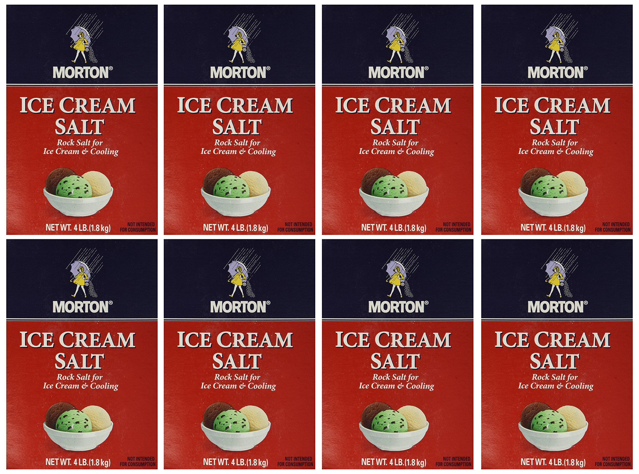 Morton Ice Cream/Rock Salt, 4-Pound (Pack of 8) by Morton (Image #1)