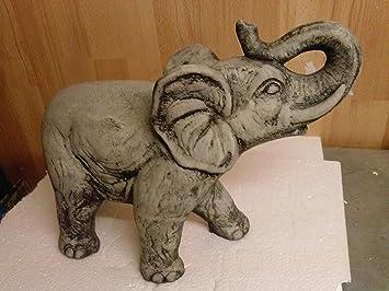 Stone Elephant Dumbo Elephant Statue Garden Animal Ornament Decorative  Sculpture Painted Heavy Weight