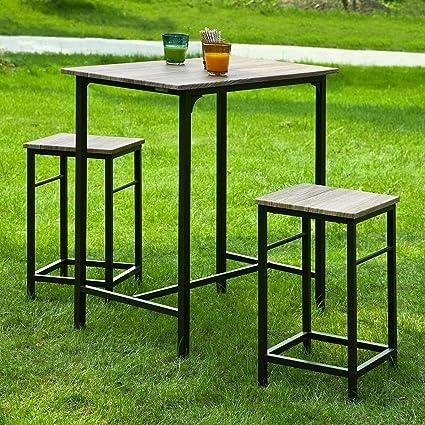 Haotian Sling High Bistro Set,Home Kitchen Outdoor Garden Bar Set,Patio  Furniture,
