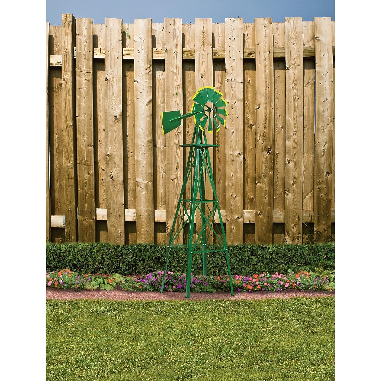 Amazon.com : 4ft. Ornamental Garden Windmill - Green and Yellow ...