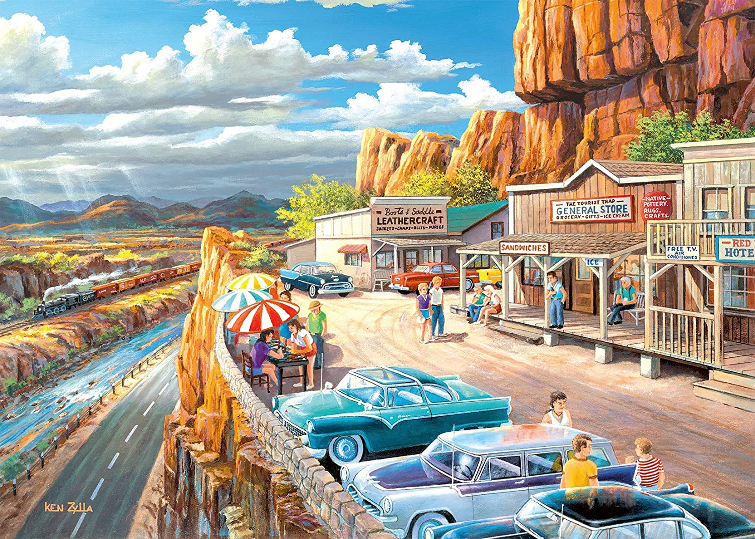 Ravensburger 16441 Scenic Overlook 500 Piece Large Pieces Jigsaw Puzzle for Adults - Every Piece is Unique, Softclick Technology Means Pieces Fit Together Perfectly