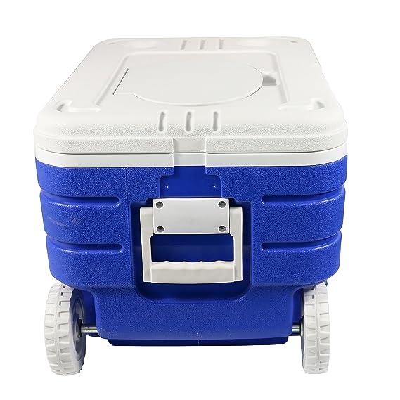 HnjPama refrigerador de 48 Cuartos con Barra y Ruedas, Aislante para Enfriador de Peces y Enfriador multifunción: Amazon.es: Deportes y aire libre