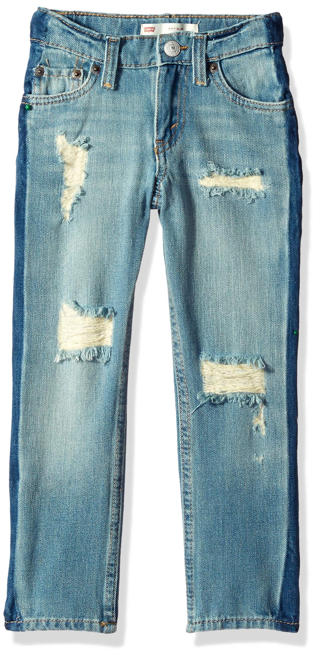 Levi's Boys' Big 511 Slim Fit Performance Jeans, Dallas Stripe, 20 by Levi's (Image #1)