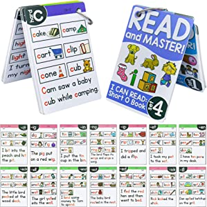 HAPTIME 67 Pcs English Phonics Word Flash Cards Game for Toddlers Kids, Build Reading Skills, Learn Words and Phonics Sounds