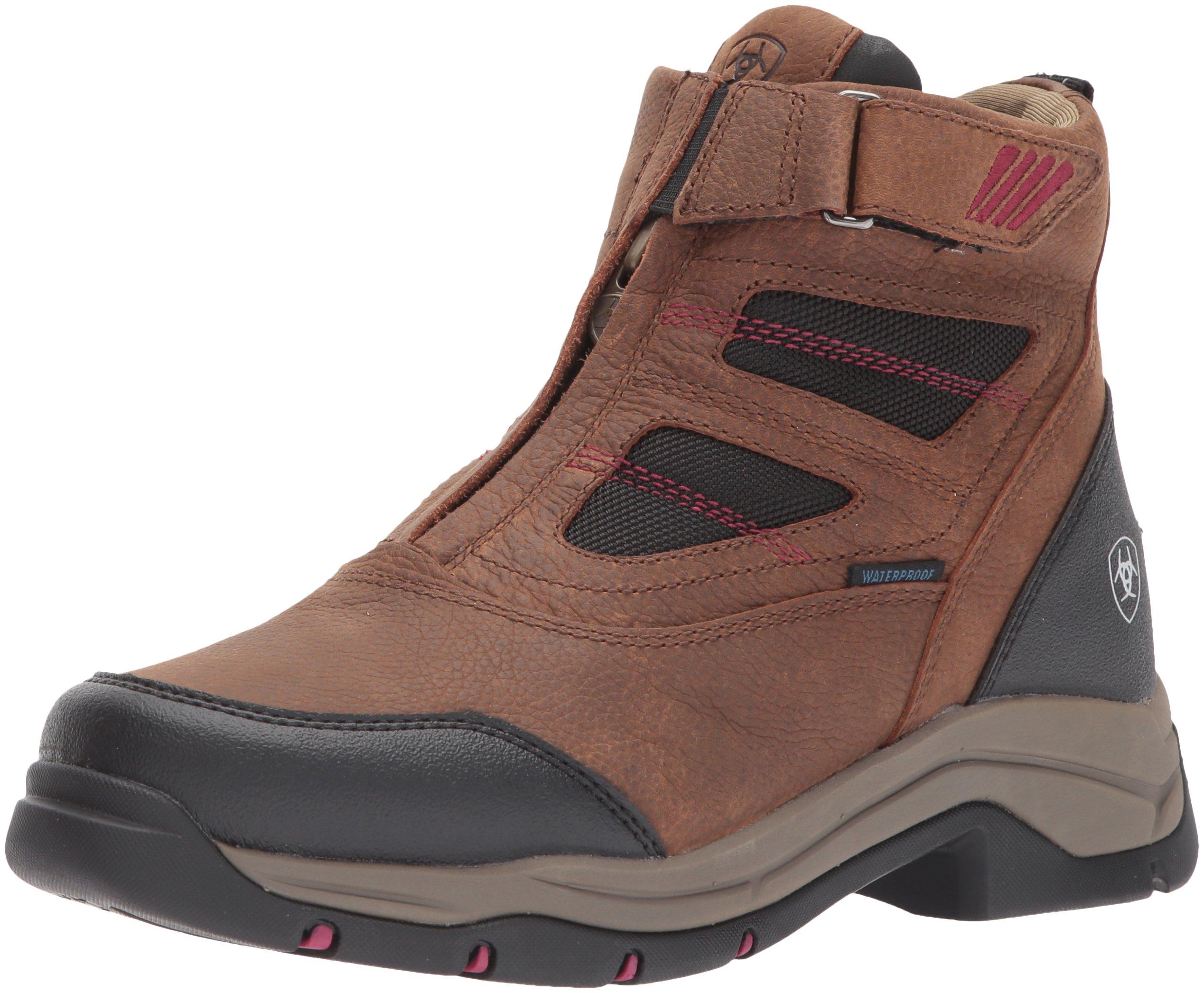 Ariat Women's Terrain Pro Zip H2O Work Boot, Brown, 8 B US