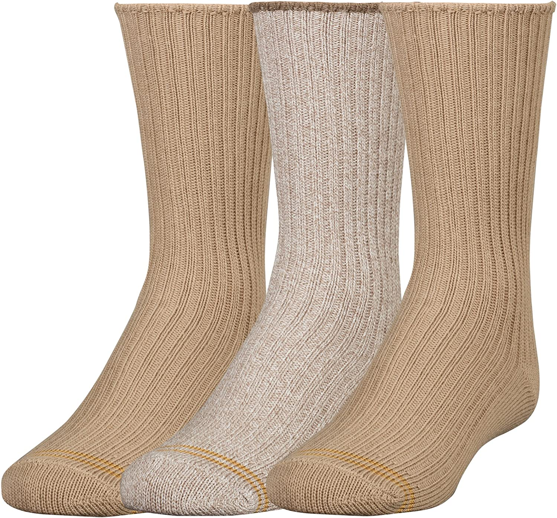 Gold Toe Big Boys Three-Pack of Cotton Crew Socks