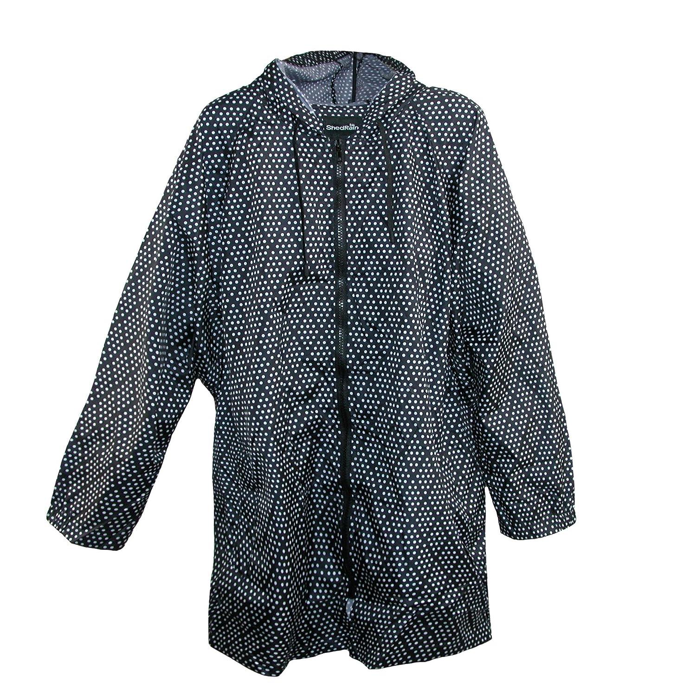 Shed Rain Women's Pattern Long Sleeve Packable Rain Jacket ShedRain