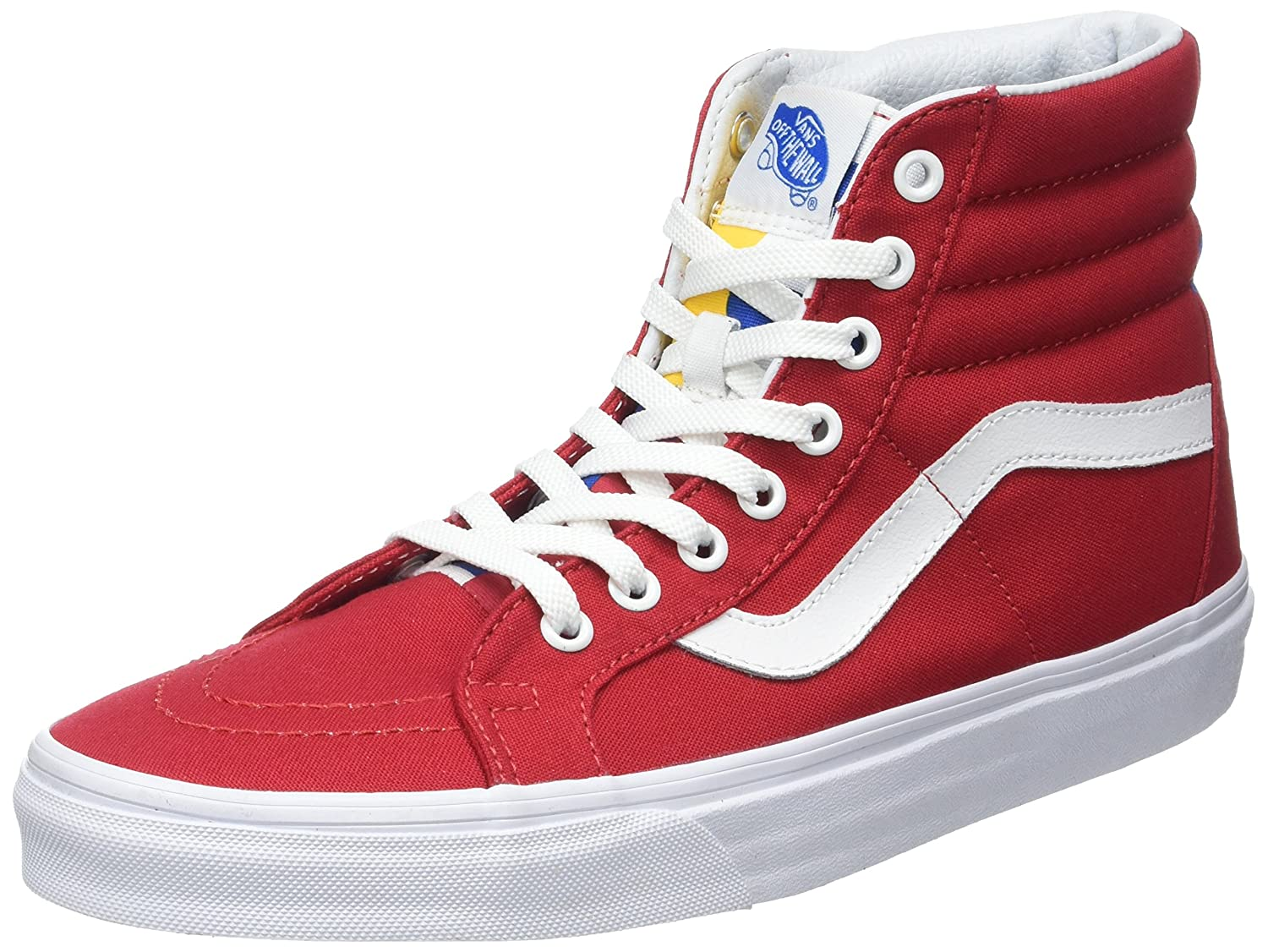 VANS MENS SK8 HI REISSUE LEATHER SHOES B01I2B4G80 14.5 B(M) US Women / 13 D(M) US Men|Red/Blue/White