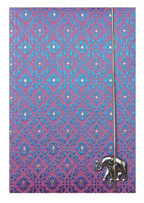 旅行財布ピンクタイシルクブレンドパスポートカバー&ホルダー   B016T2KR4Q