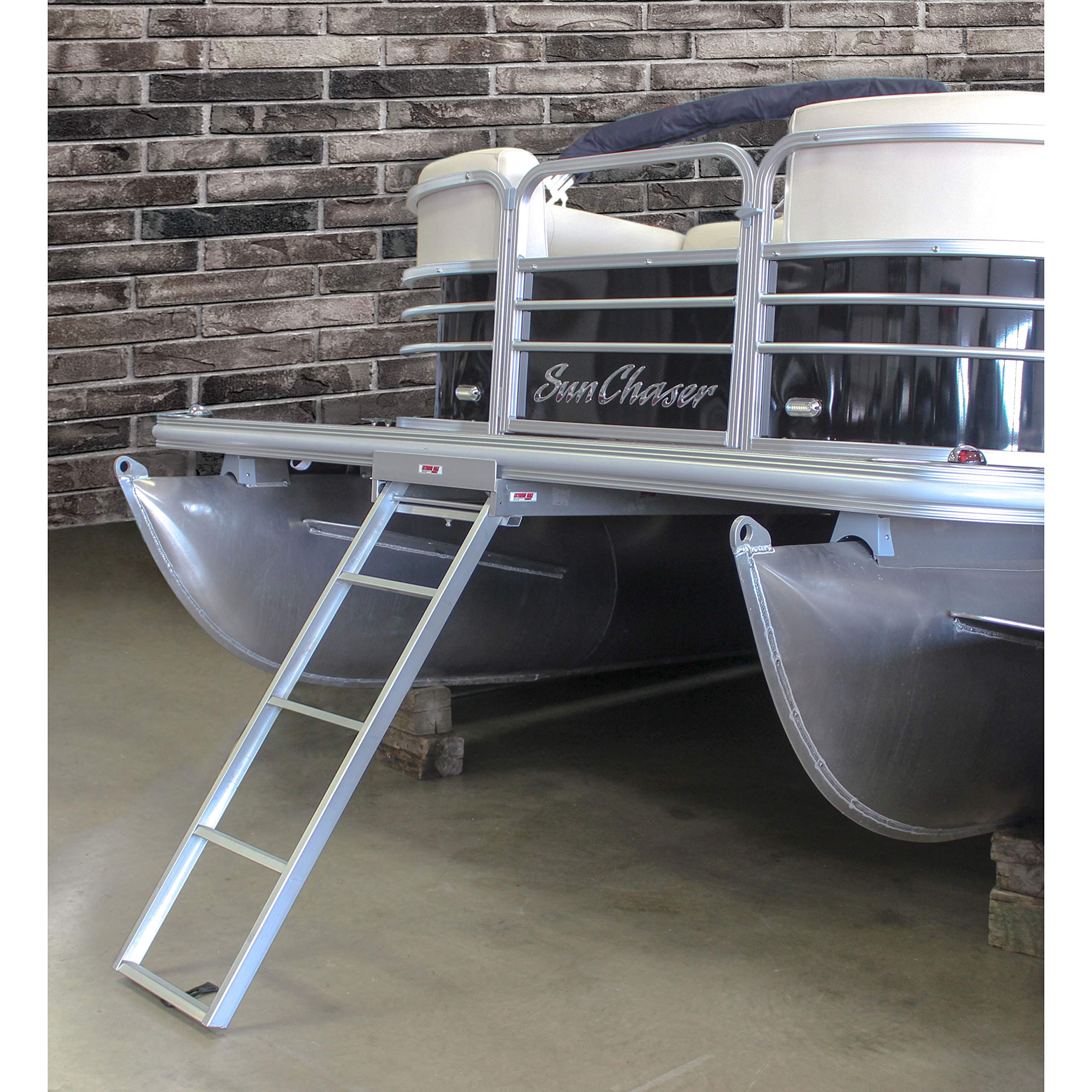 Extreme Max 3005.3434 Undermount Pontoon Ladder - 4-Step by Extreme Max