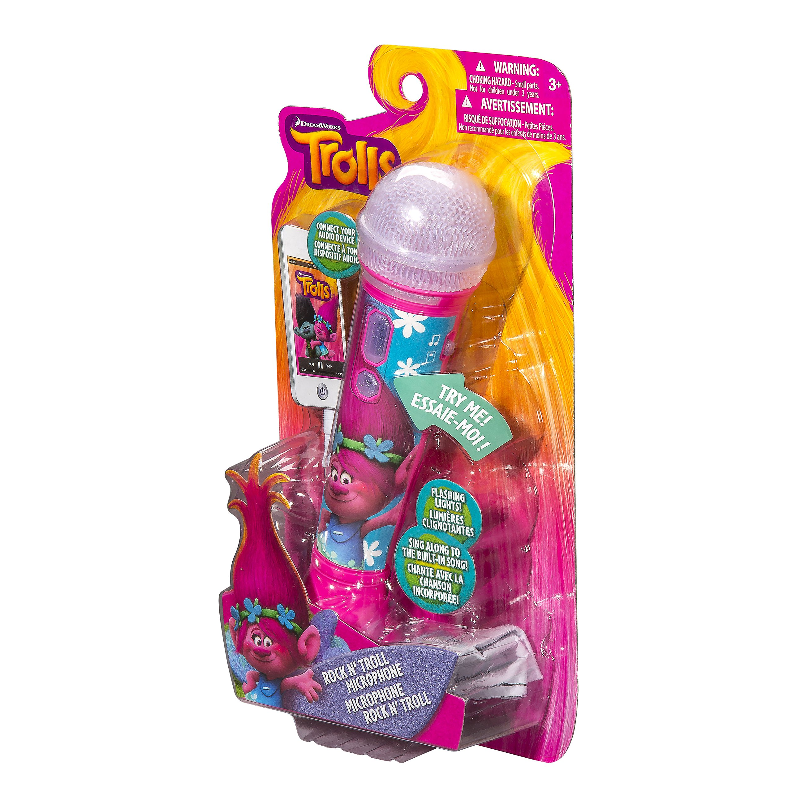 Trolls Sing Along  MP3 Microphone with Built in Music and Connects to Any MP3 Player