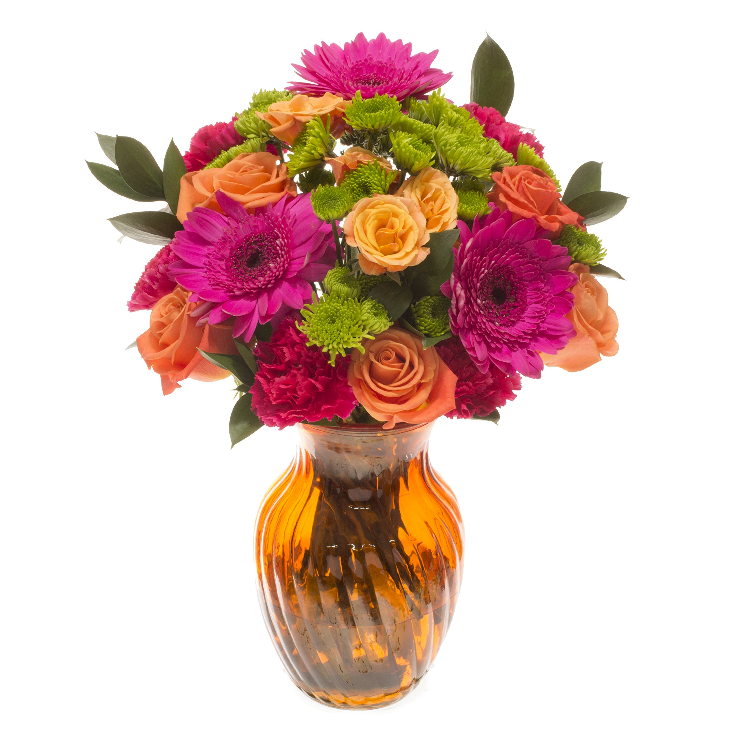 eFlowy Summer Colors Floral Vase Arrangement