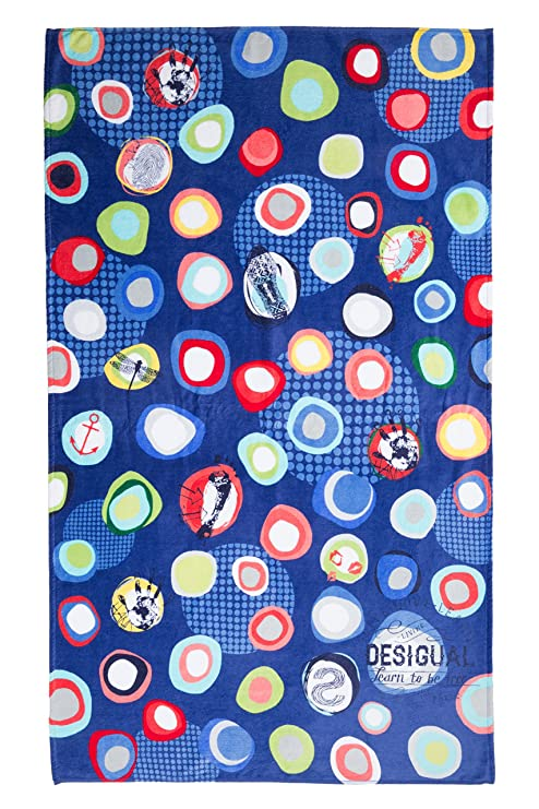 Desigual Living Blue Summer - Toalla de ducha, color azul