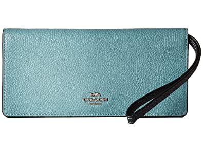 c2aca1a34f096 Amazon.com  COACH Women s Color Block Slim Wallet Sv Marine Multi One Size   Shoes