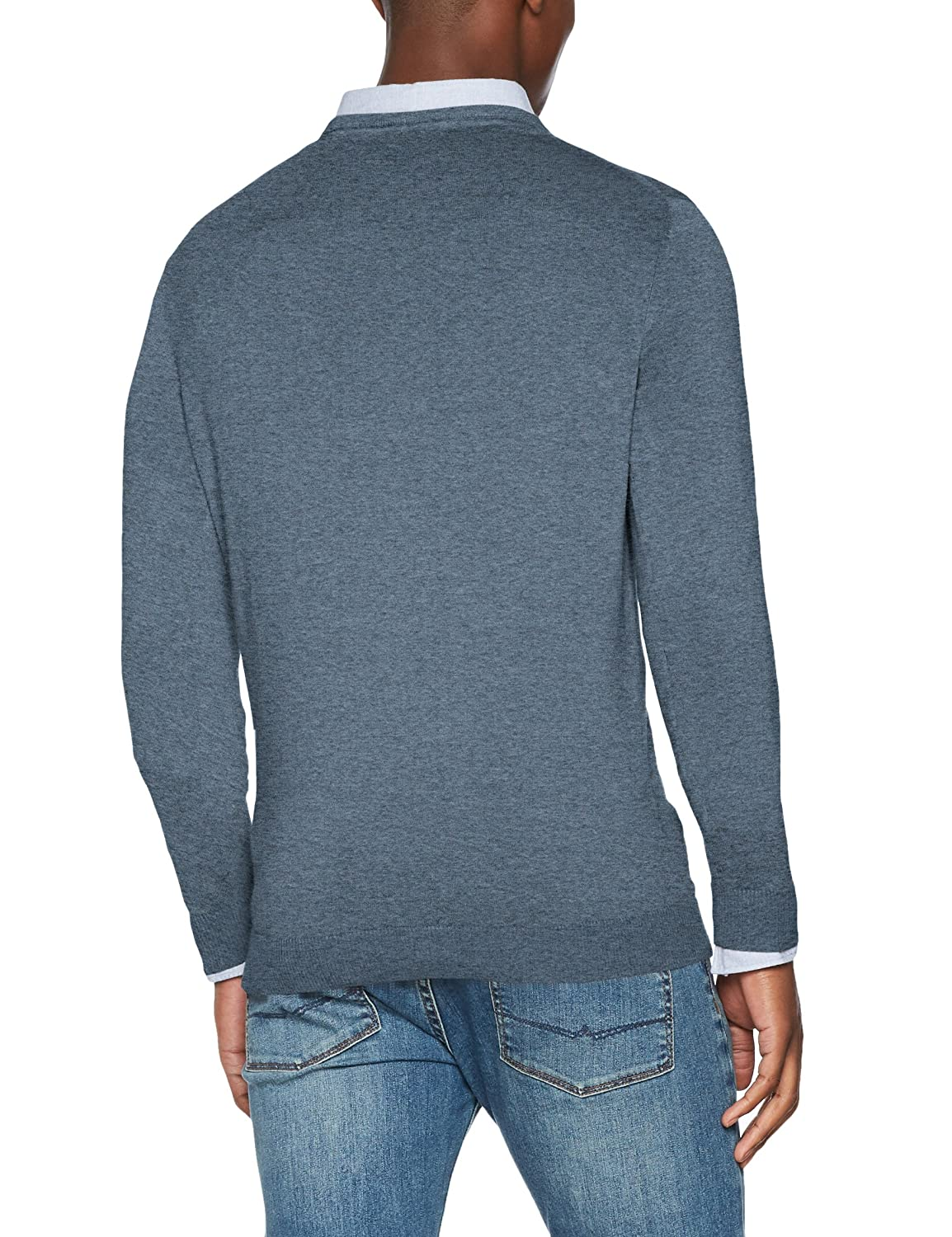 Shhnewdean Crew Neck Noos, Suéter para Hombre, Verde (Forest Night), Large Selected