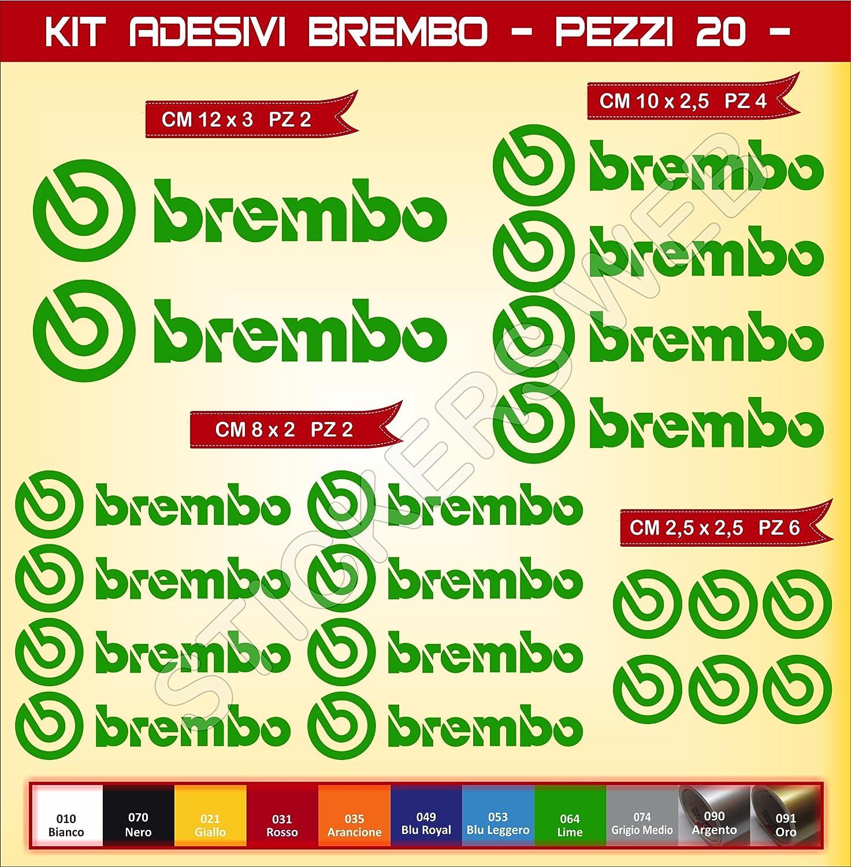 0576 Motorrad Cod Pimastickerslab Aufkleber Stickers BREMBO