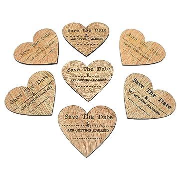Amazon De Kuhlschrankmagnete Aus Holz In Herzform Mit Englischer