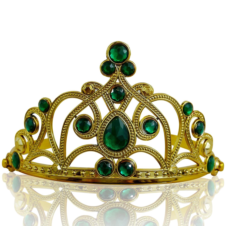 Argento//Rosa chiaro Katara 1682 Diadema Corona Pietre Coroncina Tiara Principessa Bambine Halloween Carnevale