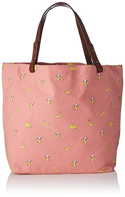 Bonito y original bolso rosa con motivos de bananas