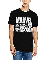 Marvel Herren T-Shirts Marvel Action Tile