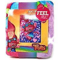 DreamWorks Silky Soft Throw Blanket Trolls Bright Star 40IN X 50IN